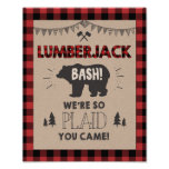 Lumberjack Welcome Sign Table sign Plaid bear
