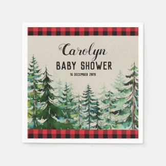 Lumberjack Woodland Forest Cocktail Paper Napkins