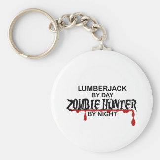 Lumberjack Zombie Hunter Basic Round Button Key Ring