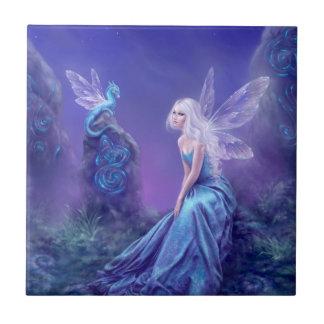 Luminescent Fairy & Dragon Art Tile