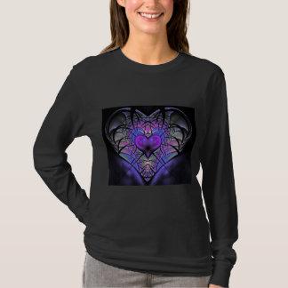 Luminescent Heart Long Sleeve Fractal T Shirts
