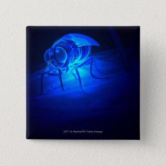 Luminescent illustration of a tsetse fly 15 cm square badge