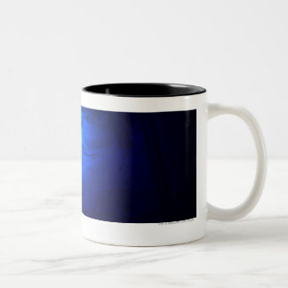 Luminescent illustration of a tsetse fly Two-Tone coffee mug