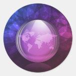 Luminescent snow globe sticker