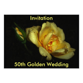 luminous 50th Golden Wedding Invitation