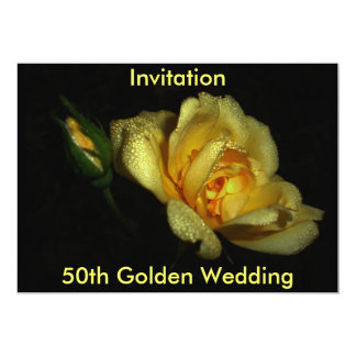 luminous, 50th Golden Wedding, Invitation