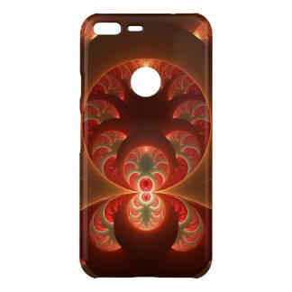 Luminous abstract modern orange red Fractal Uncommon Google Pixel XL Case