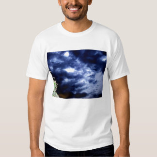 Luminous Blue&Brown Storm and Glowing Branches by Shirts