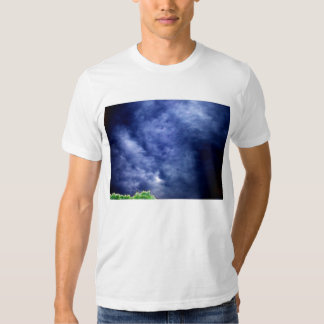 Luminous Blue Storm Clouds and Bright Treetop by K Shirt
