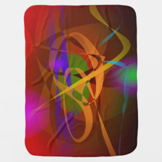 Luminous Brown Digital Abstract Art Receiving Blanket