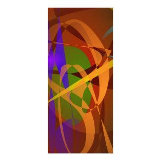 Luminous Brown Digital Abstract Art Rack Card Design