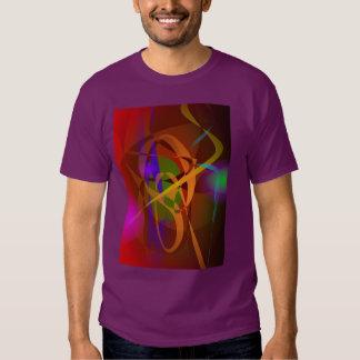 Luminous Brown Digital Abstract Art Tshirt