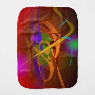 Luminous Brown Digital Abstract Art Baby Burp Cloth