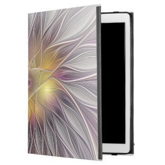 """Luminous Colorful Flower, Abstract Modern Fractal iPad Pro 12.9"""" Case"""