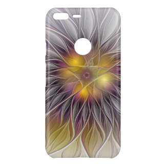 Luminous Colorful Flower, Abstract Modern Fractal Uncommon Google Pixel XL Case