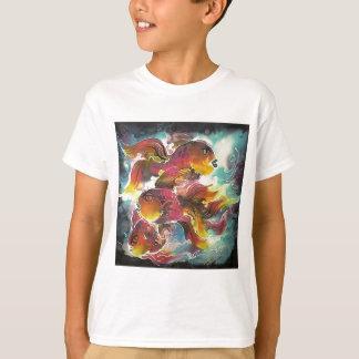 Luminous Colorful Goldfish Silk Art T Shirts