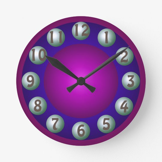 Luminous Dimensional Bold Colourful Contemporary Round Clock