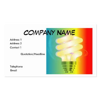 Luminous Light Bulb Business Card