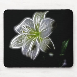 Luminous Lily Design Mouse Pad