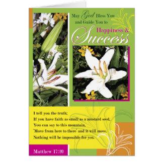 Luminous Lily Success Card