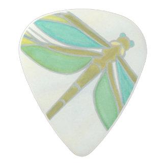 Luminous Pastel Dragonfly by Vanna Lam Acetal Guitar Pick