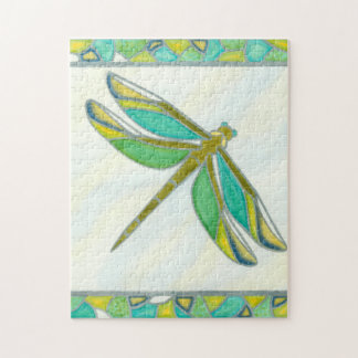 Luminous Pastel Dragonfly by Vanna Lam Jigsaw Puzzle