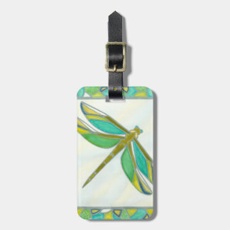 Luminous Pastel Dragonfly by Vanna Lam Luggage Tag