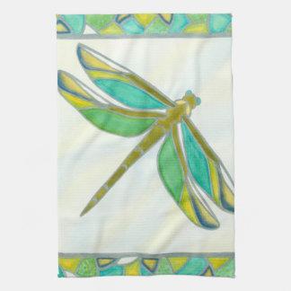 Luminous Pastel Dragonfly by Vanna Lam Tea Towel