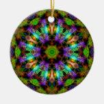 Luminous Psychedelic Mandala Ornament