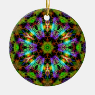 Luminous Psychedelic Mandala Ornament
