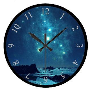 Luminous Stars Wall Clock