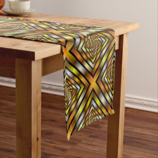 Luminous Tunnel Colorful Graphic Fractal Pattern Medium Table Runner