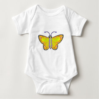 Luminous Yellow Butterfly Baby Bodysuit