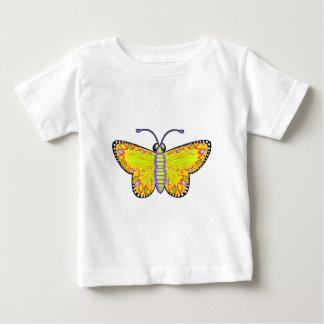 Luminous Yellow Butterfly Baby T-Shirt