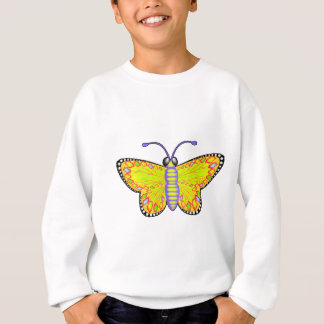 Luminous Yellow Butterfly Sweatshirt