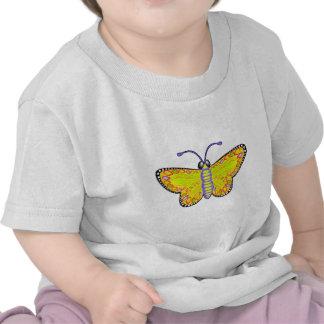 Luminous Yellow Butterfly T Shirt