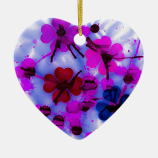 Lumo Flowers Ceramic Heart Decoration