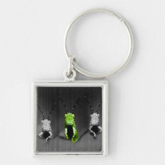 Lumpy Green Bug Keychains