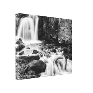 Lumsdale Waterfalls Canvas Print