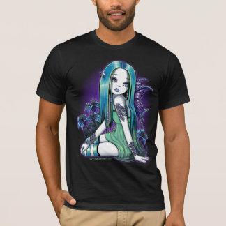 """Luna"" Gothic Moon Lilly Fairy Art T-Shirt"