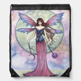Luna Jewel Fairy Fantasy Art Drawstring Bag