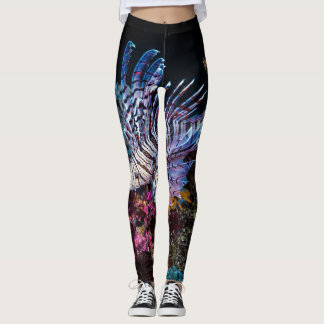 Luna lion fish, Pterois lunulata, Leggings