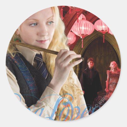 Luna Lovegood Montage Round Sticker