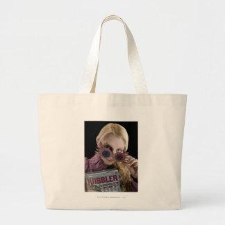 Luna Lovegood Peeks Over Glasses Jumbo Tote Bag