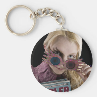 Luna Lovegood Peeks Over Glasses Key Ring