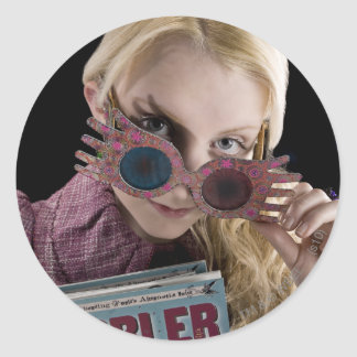 Luna Lovegood Peeks Over Glasses Round Sticker