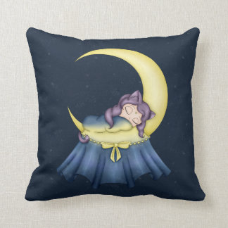 Luna Lullaby Cat Sleeping On The Moon Cushion