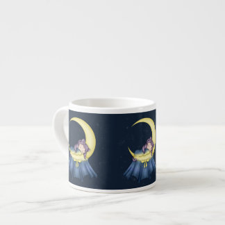 Luna Lullaby Cat Sleeping On The Moon Espresso Cups