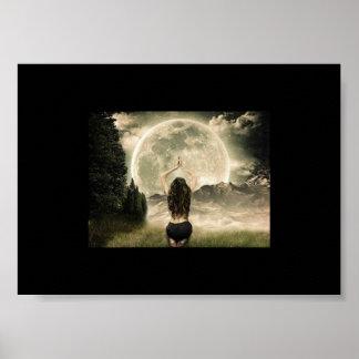 Luna Moon worship poster