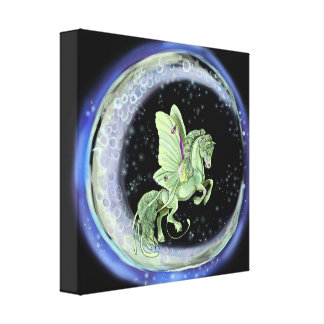 Luna Moonduster Moth Fairy Horse Canvas Print